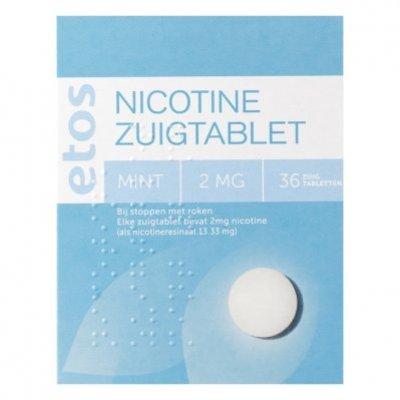 Huismerk Nicotine zuigtabletten mint 2 mg