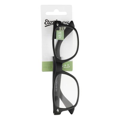 Huismerk Leesbril mat zwart +2,5