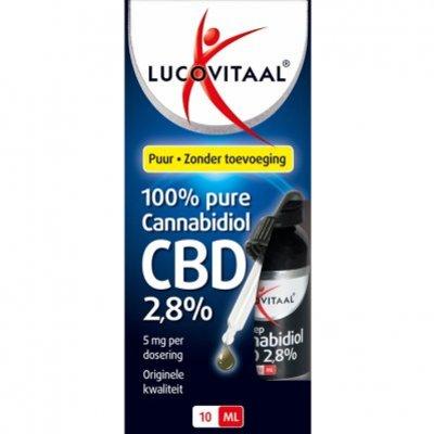 Lucovitaal 100% pure cannabidiol CBD 2,8%