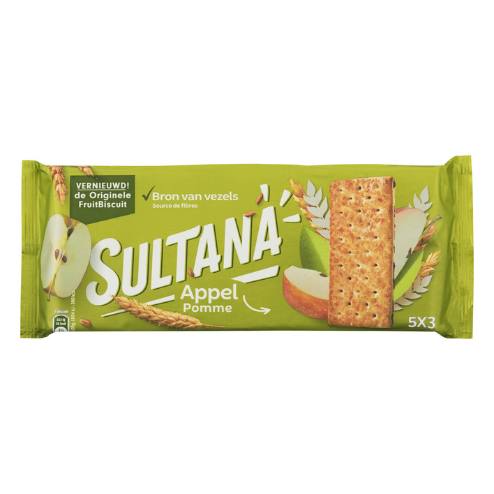 Sultana Fruitbiscuit appel