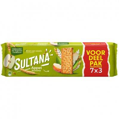 Sultana Fruitbiscuit appel 7-pak voordeel