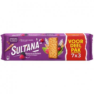 Sultana Fruitbiscuit bosvruchten 7-pak voordeel
