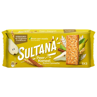 Sultana Fruitbiscuit peer-kaneel