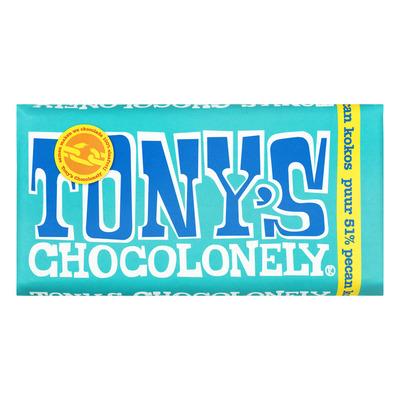 Tony's Chocolonely Puur 51% pecan-kokos