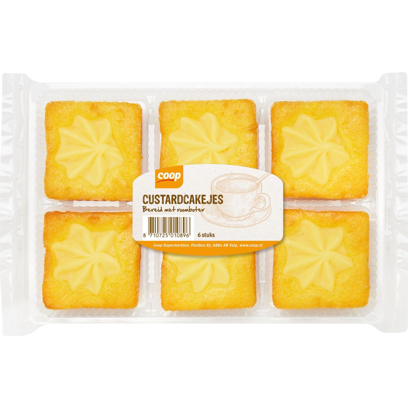 Huismerk Roomboter Custardcakejes
