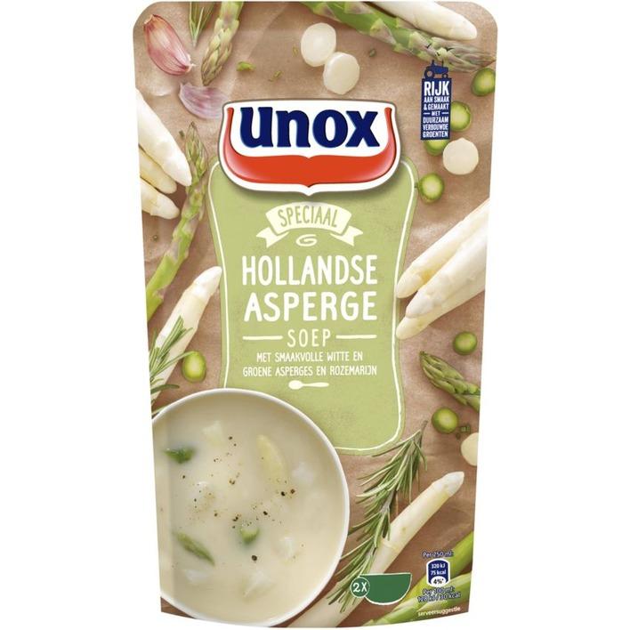 Unox Soep in zak aspergesoep