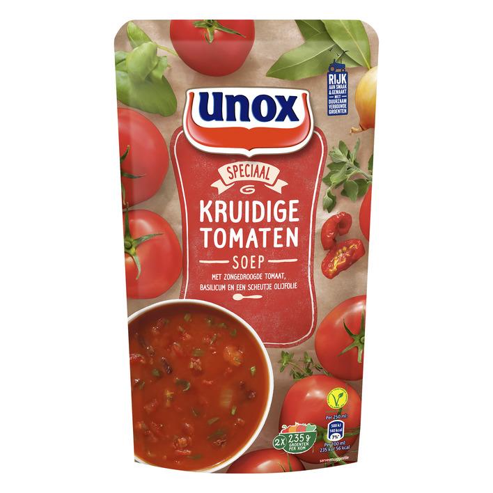Unox Soep in zak kruidige tomatensoep