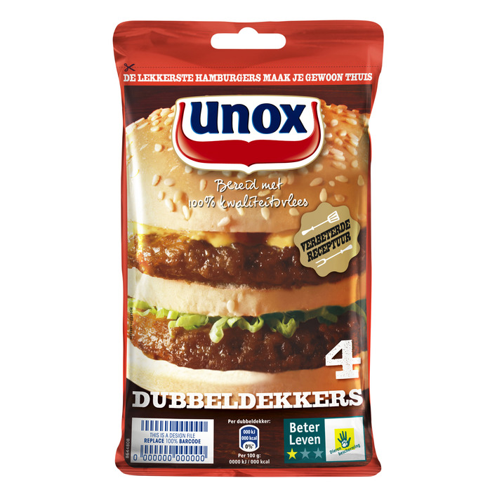 Unox Hamburgers dubbeldekker