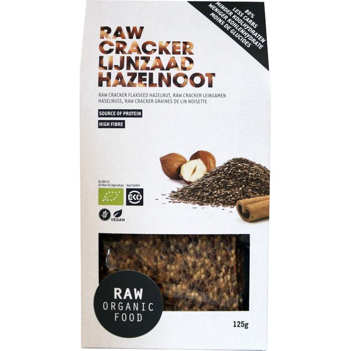 Raw Organic Food Crackers lijnzaad hazelnoot
