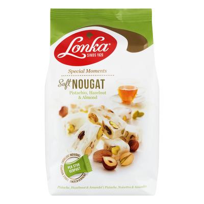 Lonka Soft nougat pistache, hazelnoot, amandel
