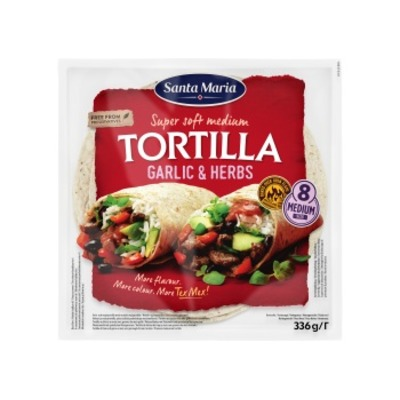 Santa Maria Tortilla garlic & herbs medium