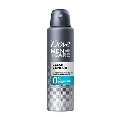 Dove Men+Care Clean Comfort 0% Deodorant Spray