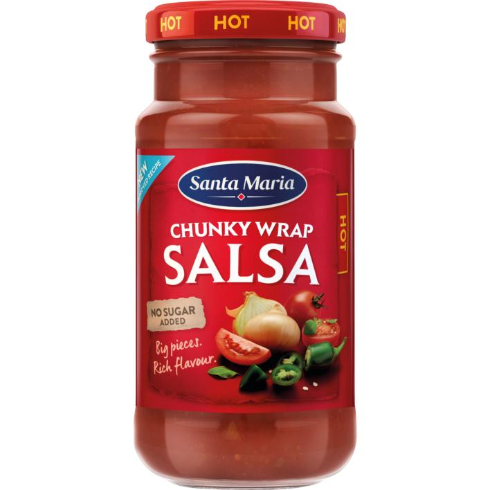 Santa Maria Chunky wrap salsa hot