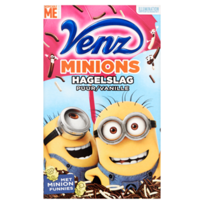 Venz Minions Hagelslag Puur/Vanille 400 g