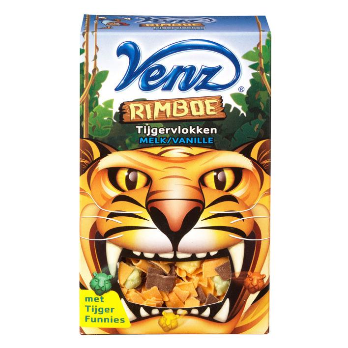 Venz Rimboe tijgervlokken melk-vanille