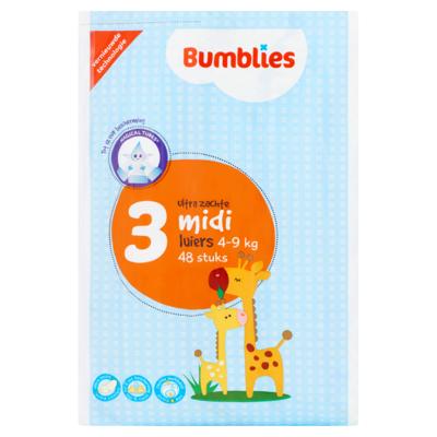 Bumblies Luiers 3 Midi Ultra Zachte 4-9 kg 48 Stuks
