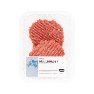 Huismerk Rund Grillburger 2 Stuks