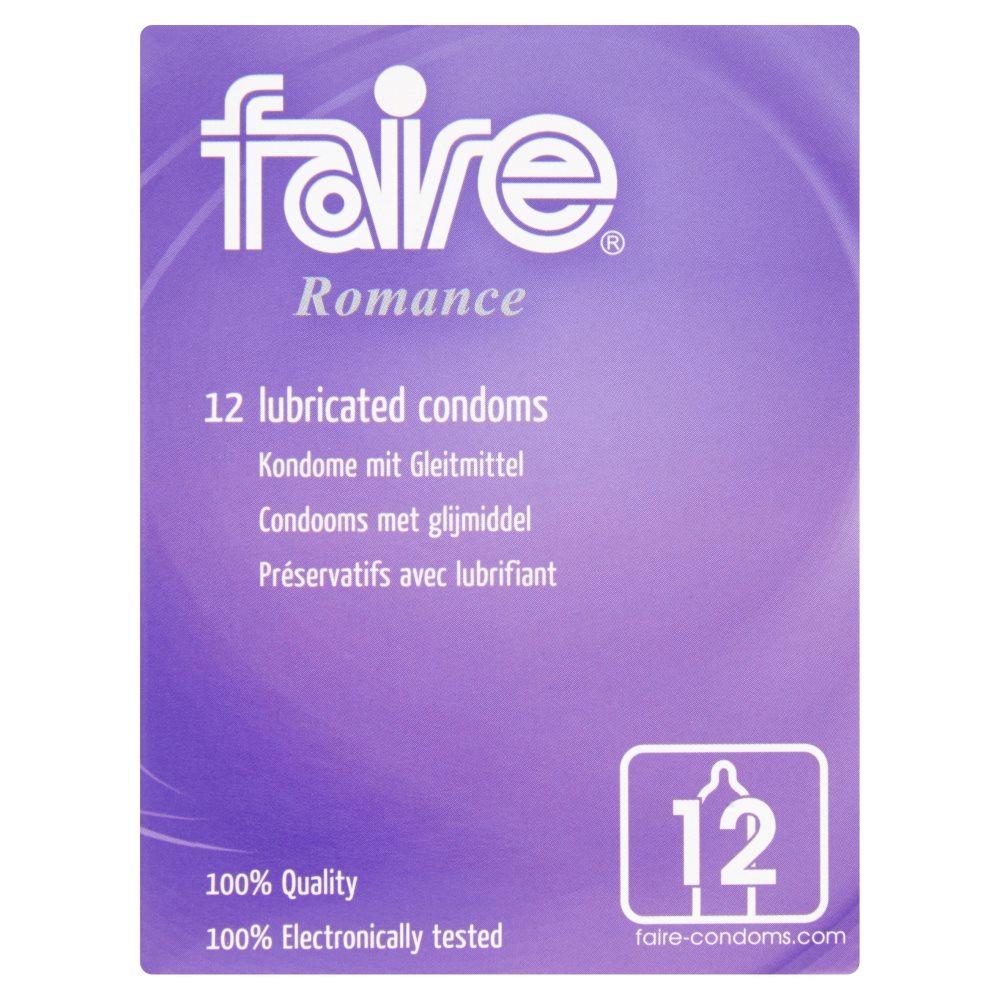 Faire Romance Condooms met Glijmiddel 12 Stuks