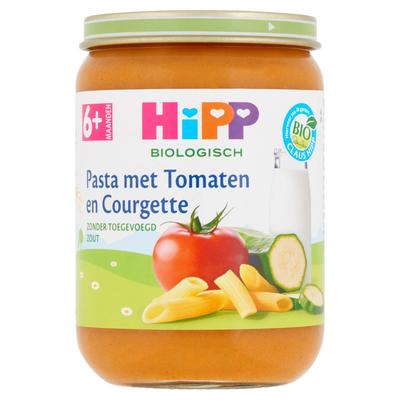 HiPP Biologisch Pasta met Tomaten en Courgette 6+ Maanden 190 g