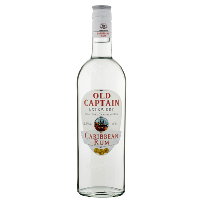 Old Captain Extra Dry Caribbean Rum 0,7 L