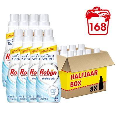 Robijn wasmiddel stralend wit klein & krachtig halfjaar box