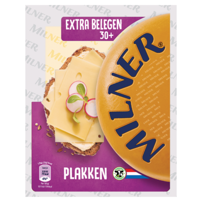 Milner Extra Belegen Kaas 30+ Plakken 175 g