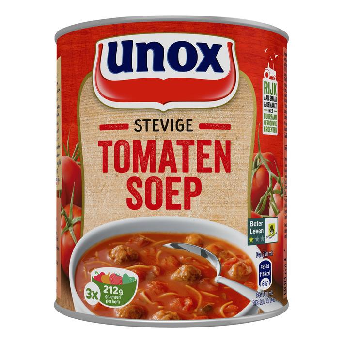 Unox Soep in blik stevige tomatensoep