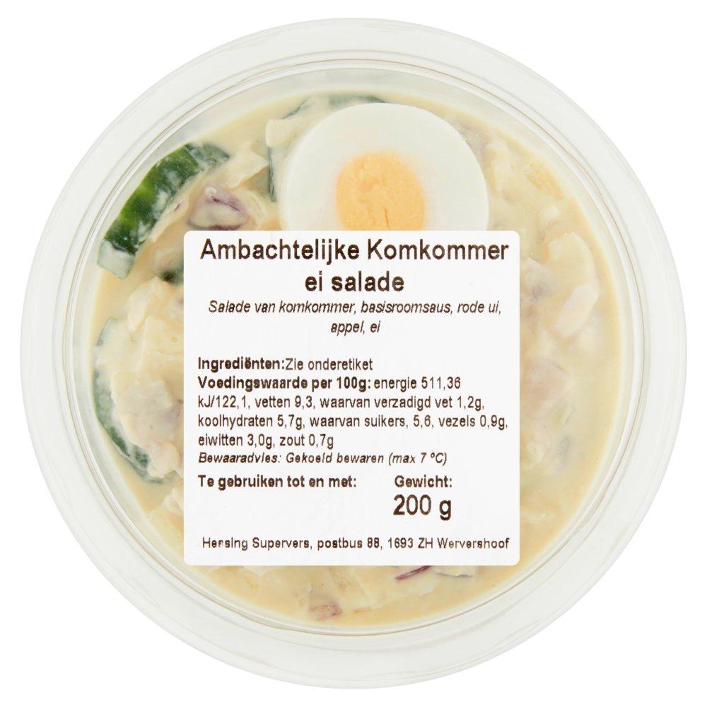 Ambachtelijke Komkommer Ei Salade 200 g