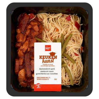 Keukenkunst Geroosterd Spek met Noodles 450 g
