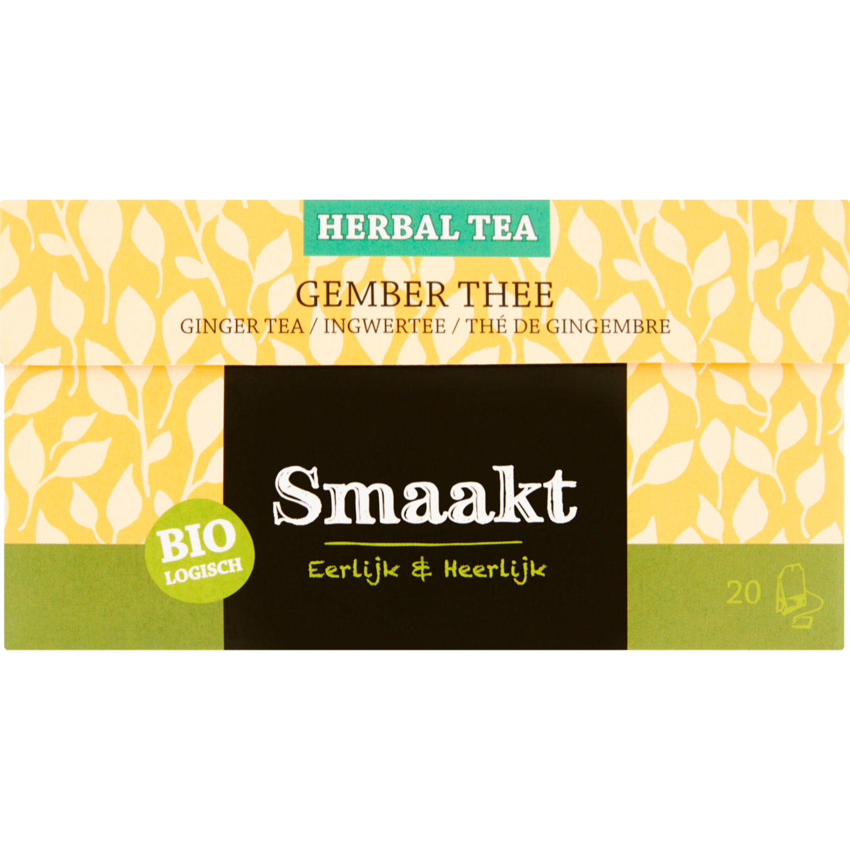 Smaakt Herbal thee biologisch gember 20 zakjes