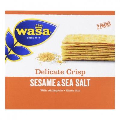 Wasa Delicate thin crisp sesame & seasalt