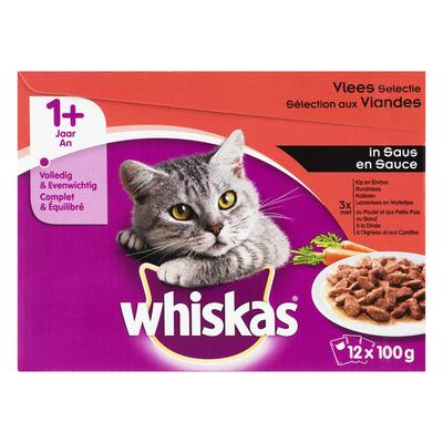 Whiskas Adult vlees selectie in saus