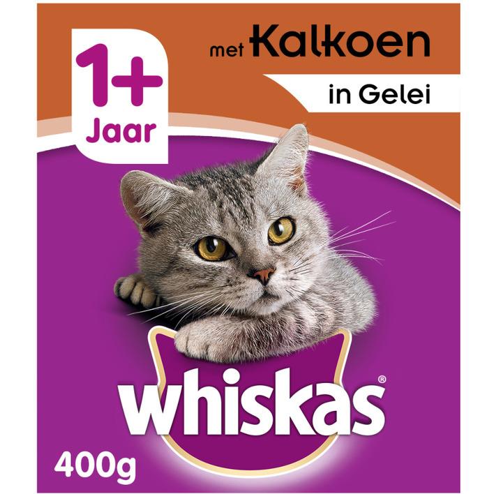 Whiskas Kattenvoer nat kalkoen in gelei 1+ jaar