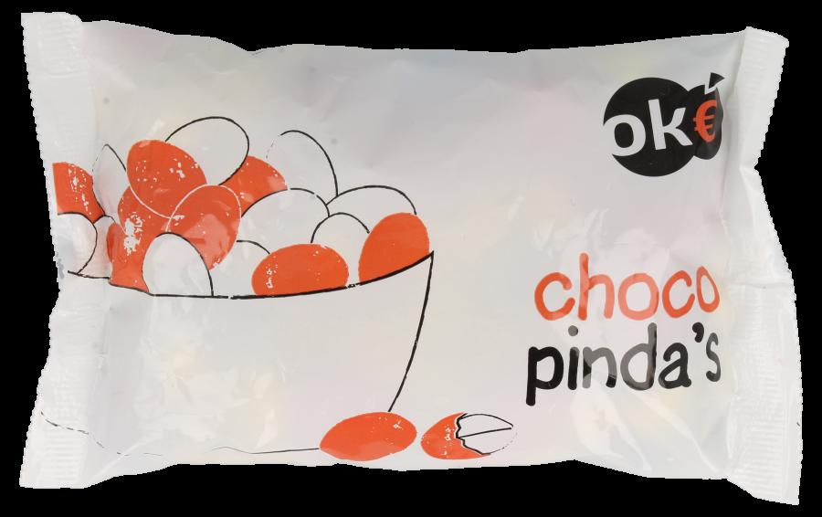 Budget Huismerk Gekleurde chocolade pinda's