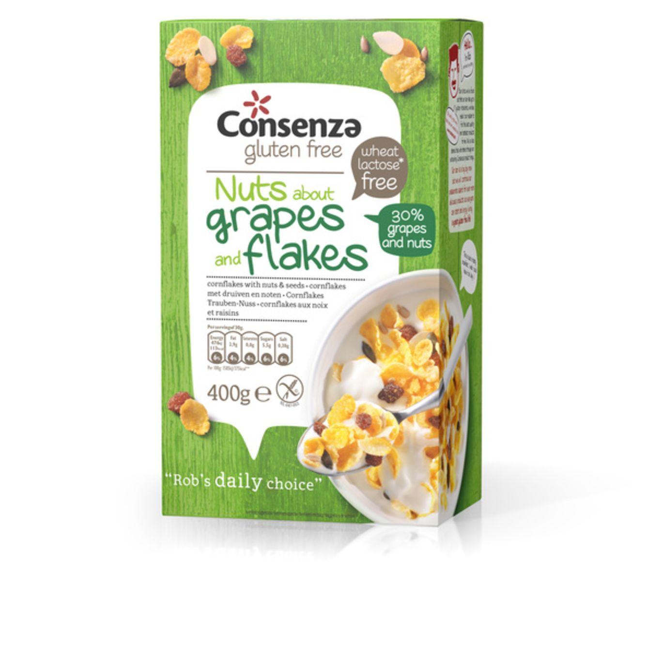 Consenza Cornflakes Met Druiven En Noten