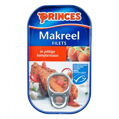 Princes Makreel in pittige tomatensaus