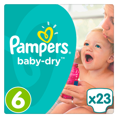 Pampers Baby dry midpack extra large
