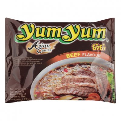Yum Yum Beef flavour instant noodles