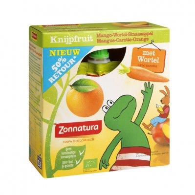 Zonnatura Knijpfruit mango - wortel - sinaasappel