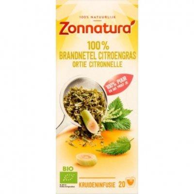 Zonnatura Brandnetel citroengras thee