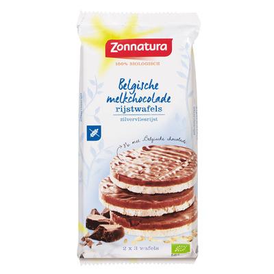 Zonnatura Belgische melkchocolade rijstwafels