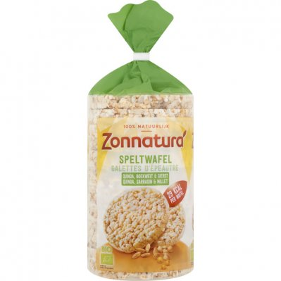 Zonnatura Speltwafels quinoa - boekweit - gierst