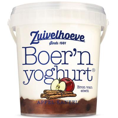 Zuivelhoeve Boer'n yoghurt appel-kaneel