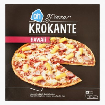 Huismerk Krokante pizza Hawaii