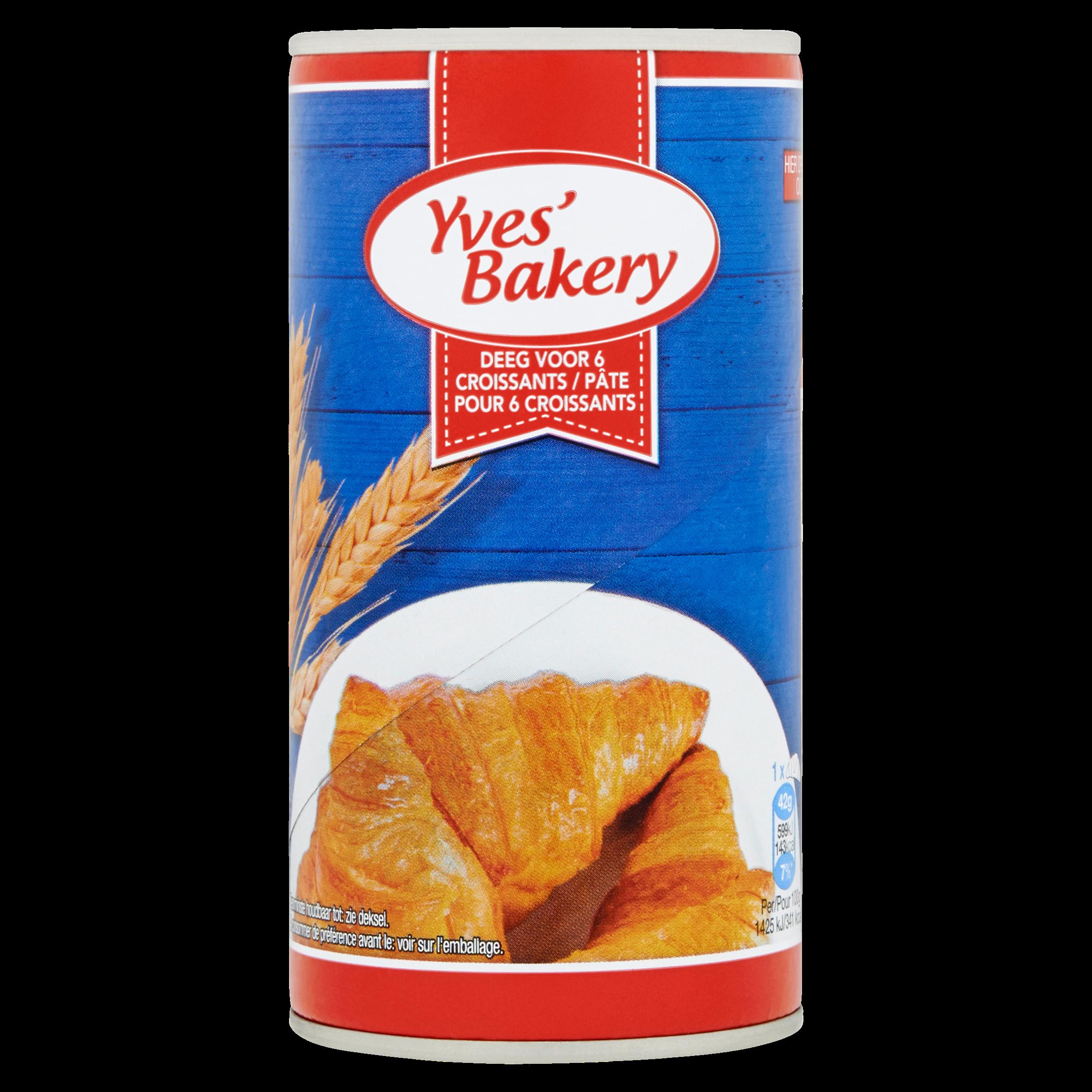 Yves' Bakery Deeg voor 6 Croissants 250 g