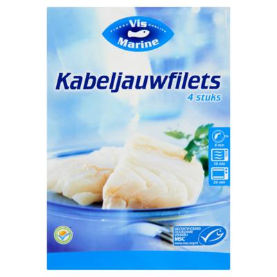 Vismarine Kabeljauwfilet 4x 100 gram