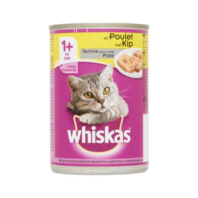 Whiskas Kattenvoer Nat Paté met Kip 1+ Jaar Blik
