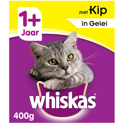 Whiskas Kattenvoer nat kip in gelei 1+jaar