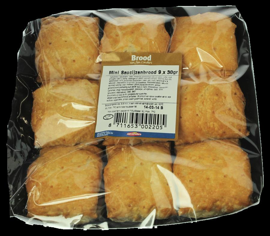 Jan Linders Mini saucijzenbroodjes 9 stuks