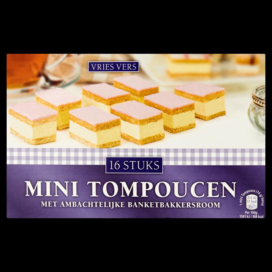 Mini tompoucen 16 stuks